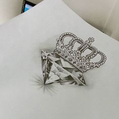 Diamond crown tattoo