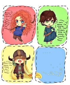 *** Rapunzel percy jackson idek The Big Four merida hiccup jack frost rise of the brave tangled dragons Disney Dream, Cute Disney, Disney Magic, Jack Frost, Disney And Dreamworks, Disney Pixar, Hiccup Jack, Hogwarts, Merida And Hiccup