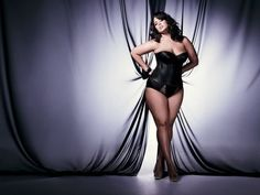 Plus size model Ashley Graham. She and I have the same measurements :)