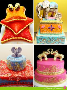Indian Elephant Birthday Cakes - for kids and adult birthdays Elephant Birthday Cakes, Elephant Cakes, Elephant Baby, Elephant Wedding, Indian Cake, Indian Wedding Cakes, Indian Weddings, Cupcakes, Cupcake Cakes