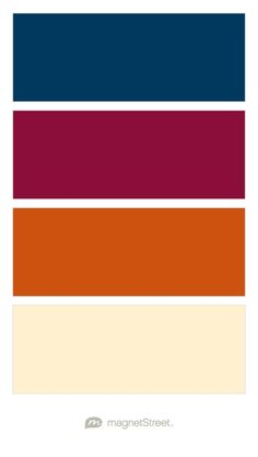 My Fall wedding colors :) Navy, Burgundy, Pumpkin, and Pale Peach Wedding Color Palette - custom color palette created at MagnetStreet.com