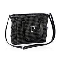 top handle bags: Thirty One Mini Cindy in Black Houndstooth - No Monogram - 4746 Thirty One Fall, Thirty One Party, Thirty One Gifts, Thirty One Business, Thirty One Consultant, 31 Gifts, 31 Bags, 3 In One, Tote Purse