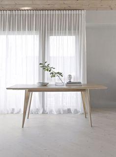 Viken dining table Dining Room Furniture, Dining Bench, Minimalism, Curtains, Living Room, Interior, Home Decor, Design, Key