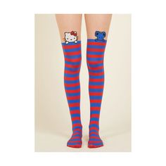 Quirky Vacation to Kawaii Tights (22 AUD) ❤ liked on Polyvore featuring intimates, hosiery, tights, foundation, full-length tight, red, tight, red stockings, red thigh high stockings and thigh high stockings