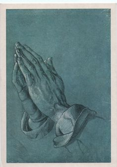 'Betende Hände', in English 'Praying Hands', famous Pen-and-ink drawing by the German printmaker and painter  Albrecht Dürer (c.1508). The artwork is stored at Albertina museum — Graphische Sammlung in Vienna.