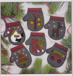 Pattern - charcoal #mittens - cute #applique christmas ornaments pattern - #rache,  View more on the LINK: http://www.zeppy.io/product/gb/2/331963567469/