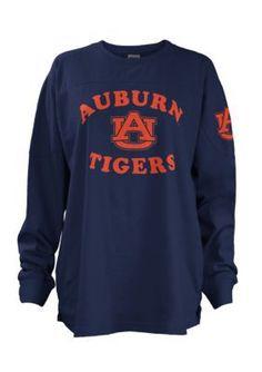 Royce Women's Auburn University Midway Big Shirt - Navy - Xl