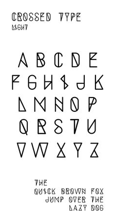 Crossed Type by Baptiste Chlx, via Behance
