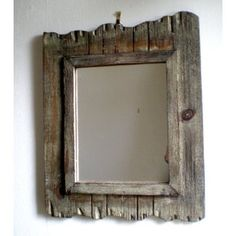 Rustic Wooden Wall Mirror ~ Rustic ~ Shabby Chic
