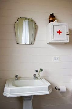Mirror, First Aid Cabinet, Sink Arrangement