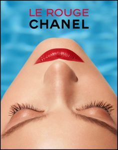 Le rouge - chanel advertiesment The inverted image, sharp lines, symmetry make the viewer see a human face as art, made up of lines, shapes, colors rather than a schematic image. Favorite