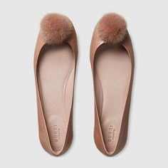 GUCCI - Leather ballet flat