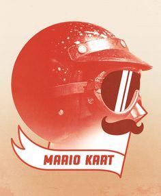 Mario Kart by Chase Kunz - Because who doesn't love a bit of Mario Kart in the morning? Mario Kart Ds, Mario Bros, Sega Retro, Video Game Art, Video Games, Video Game Characters, Nerd, Geek Stuff, Nintendo
