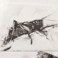 Modern Ancient: Day 15: What Are You Afraid Of? Kelly Crosser Alge, glass powder sgraffito 10 minute sketch