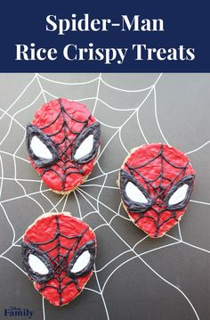 Are your Spidey senses tingling?! That's because you're ready to make these delicious Spider-Man Rice Crispy Treats! Your kids will definitely be gushing over this dessert themed after their favorite superhero. Click for the full Marvel recipe.