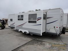 32ft - 2006 - Jayco Jayflight Super Slide Bunk House Sleeps 10 - $11,995.00  A separate bunk room and sleeping for up to 10 people means your whole crew will camp in comfort and style without spending a whole bunch of cash on hotels!