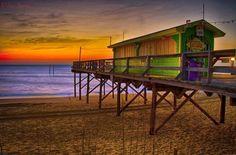 The Tiki Bar on Carolina Beach.