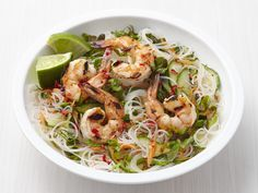 Get this all-star, easy-to-follow Rice Noodle Salad with Shrimp recipe from Food Network Magazine.
