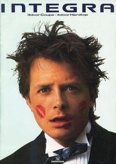 Michael J. Fox in an Integra ad, I always found him so adoreable. Beautiful Person, Beautiful Boys, Gorgeous Men, Alex P Keaton, Jonathan Lipnicki, Michael Fox, Bttf, Hugh Laurie, Back To The Future