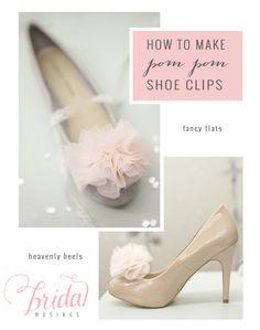 DIY Shoe Clips: Chiffon Pom Poms | photos by http://www.kat-hill.com/