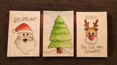 4 x 6 Aquarell Weihnachtskarten; Satz von 3 oder 4 Wenn Sie verschiedene Bilder als die 3 auf dem Bild möchten, lassen Sie es mich wissen! * Rahmen nicht enthalten