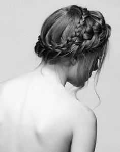 braided romantic up do