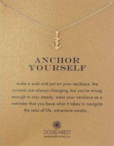 anchor yourself best wishes pendant necklace | college graduation gift ideas | high school graduation gift ideas | off  to college gift ideas for daughter | for her