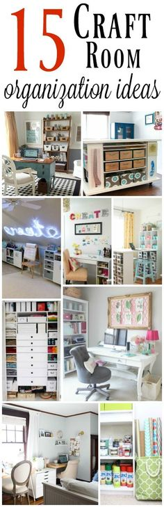 15 amazing craft room organization ideas.