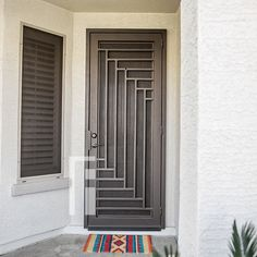 Jazz Iron Security Door - First Impression Ironworks Source by manuka_bee Grill Gate Design, Window Grill Design Modern, Steel Gate Design, Iron Gate Design, House Gate Design, Main Door Design, Front Door Design, Railing Design, Window Design
