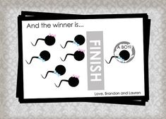 FUNNY Gender Reveal Scratch Off Cards - 3 Cards and 3 Envelopes….hahaha @Miranda4Love ! for your baby shower menna!