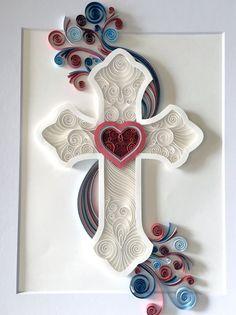 Quilled Cross Paper Art