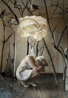 Latvian design studio mammalampa created a collection of lights called The Bride.