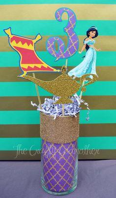 Disney Princess Jasmine Birthday Party by TheCraftyGodMother Aladdin Party, Disney Princess Birthday Party, Girl Birthday, Jasmin Party, Princess Jasmine Party, Arabian Nights Party, Party Fiesta, Birthday Party Centerpieces, Ideas Para