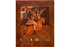 Bid Live on Lot 403 in the Art, Antiques, Collectibles Auction from Auktionshaus J. The Saleroom, Religious Art, Christian, Icons, Traditional, Antiques, Painting, Russia, Auction