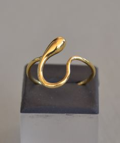Handmade Circle of Life Ring in Solid 18k Yellow Gold by ViazisJewelry on Etsy