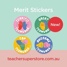 NEW: Teamwork - Merit Stickers (Pack of 96) Reward students when they work effectively with others in a team with these Teamwork Merit Stickers. The Teamwork Merit Stickers are suitable for when students demonstrate active listening, superb collaboration and respect for others. Respect Others, Fist Bump, Active Listening, Teaching Aids, Teamwork, Classroom Management, Helping Others, A Team, Collaboration