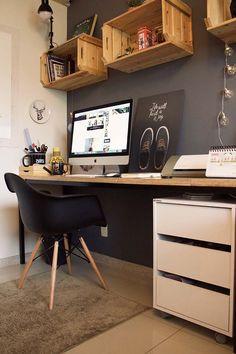 O escritório criativo do Homens da Casa só poderia estar cheio de inspirações com muitos projetos DIY.