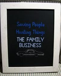 cross stitch - Supernatural - saving people, hunting things, the family business