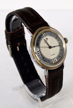 Men's Vintage Watch 1980 USSR Wostok, Bulova design Soviet Watch, Christmasgifts #Wostok #Casual #Wostok #Bulova #watch #vintage #gold #wristwatch #giftsforhim #fathersday