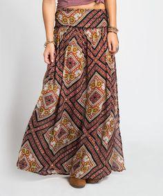 Another great find on #zulily! Black & Orange Dolly Skirt #zulilyfinds