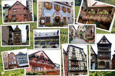 En allant à Sainte Marie aux Mines, nous avons pris la route des vins d'Alsace. Véritable image de carte postale, tout au long du voyage, magnifiques vignobles, maisons à colombages fleuries, nids de cigognes..... et des tissus bien sûr.....