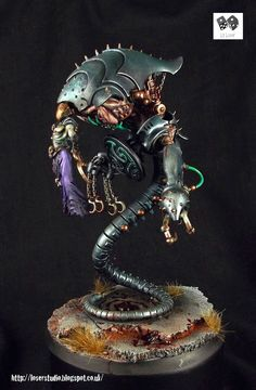 Dark Eldar Cronos - The Helmet of Horror.