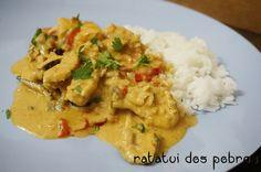 Caril vermelho tailandês de frango | ratatui dos pobres