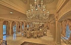 Chateau D or Bel Air California. I dreams of this room. Apparently after I walked into the chateau, so . it's apparently close to the door. Luxury Dining Room, Luxury Rooms, Luxury Homes Interior, Luxury Home Decor, Dining Room Design, Dining Area, Dining Table, Interior Design, Bel Air Mansion