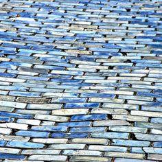 blue cobblestone streets throughout Old San Juan