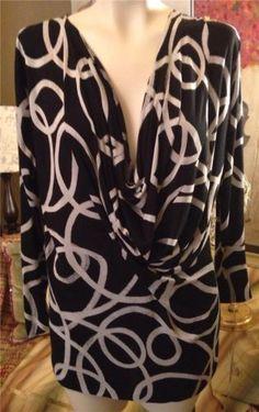 Auth Agnona Black Viscose Tunic Top Shirt Blouse Size 46 12 | eBay