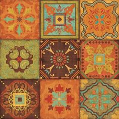 From India III Home Wall Art, Wall Art Decor, Moroccan Decor, Moroccan Tiles, Modern Moroccan, Moroccan Design, Canvas Wall Art, Wall Art Prints, Poster Prints