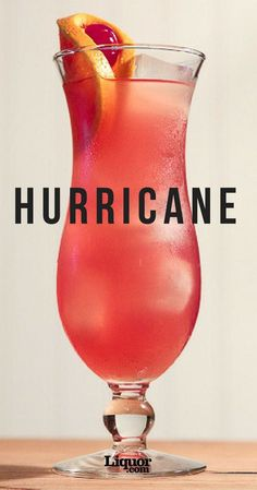 Hurricane When in Rome? How about when in New Orleans? The Hurricane powerful tropical drink will transport you to French Quarter during the first sip. Created in the this super boozy rum-based concoction that will get the party started no matter wh Cocktail Original, Hurricane Drink, Liquor Drinks, Beverages, Bourbon Drinks, Vodka Cocktails, Martinis, Alcohol Drink Recipes, Cocktail Recipes