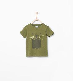 ZARA - NIÑOS - Camiseta estampado león