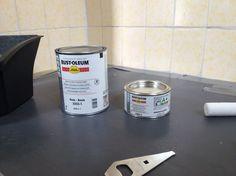 [Handig stappenplan!] Tegels verven met betonverf - Verfwebwinkel.nl Diy Painting, Diy And Crafts, Sweet Home, New Homes, Flooring, Bathroom, Inspiration, Home Decor, Farm Houses